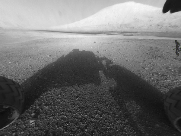 Bigfoot, also known as Sasquatch, photobombs Mars Curiosity photo.
