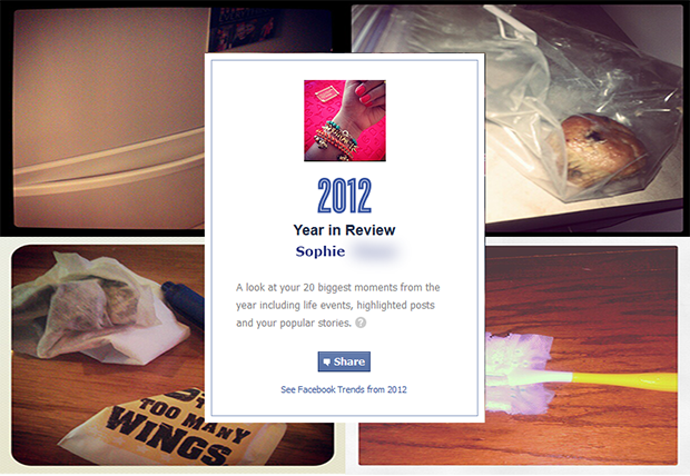 Facebook Year In Review of A Terribly Artistic Socialite