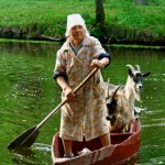 Goat Boat Woman