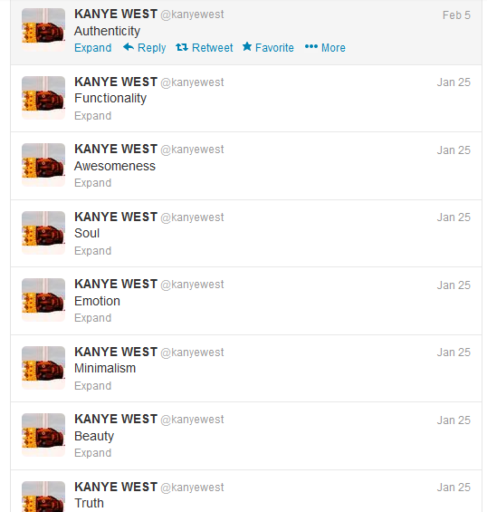 Really Intersting Kanye West Twitter Posts