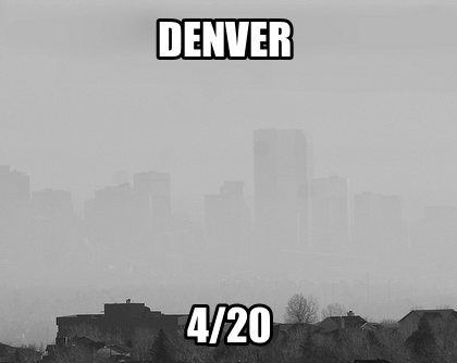 Denver Skyline on 4/20