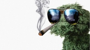 oscar the grouch smoking weed