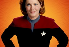 Star Trek Captain Janeway Wearing Prison Orange For Being Romulan Spy