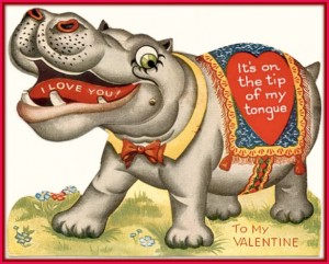 This is the first known Valentine's Day card from 1921.