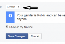 Facebook Friend Changes Gender