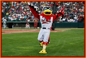 Bad start for Redhawks causes Hawkeye to throw his hands up!
