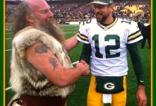 Former Vikings Mascot Now With Green Bay Packers