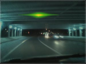 This UFO was seen hovering in many Fargo underpasses this last weekend.