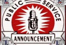 FMO's Public Service Announcements For The Weeks Of February 8-22