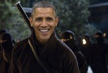 Obama Ninja Army Fighting Climate Change