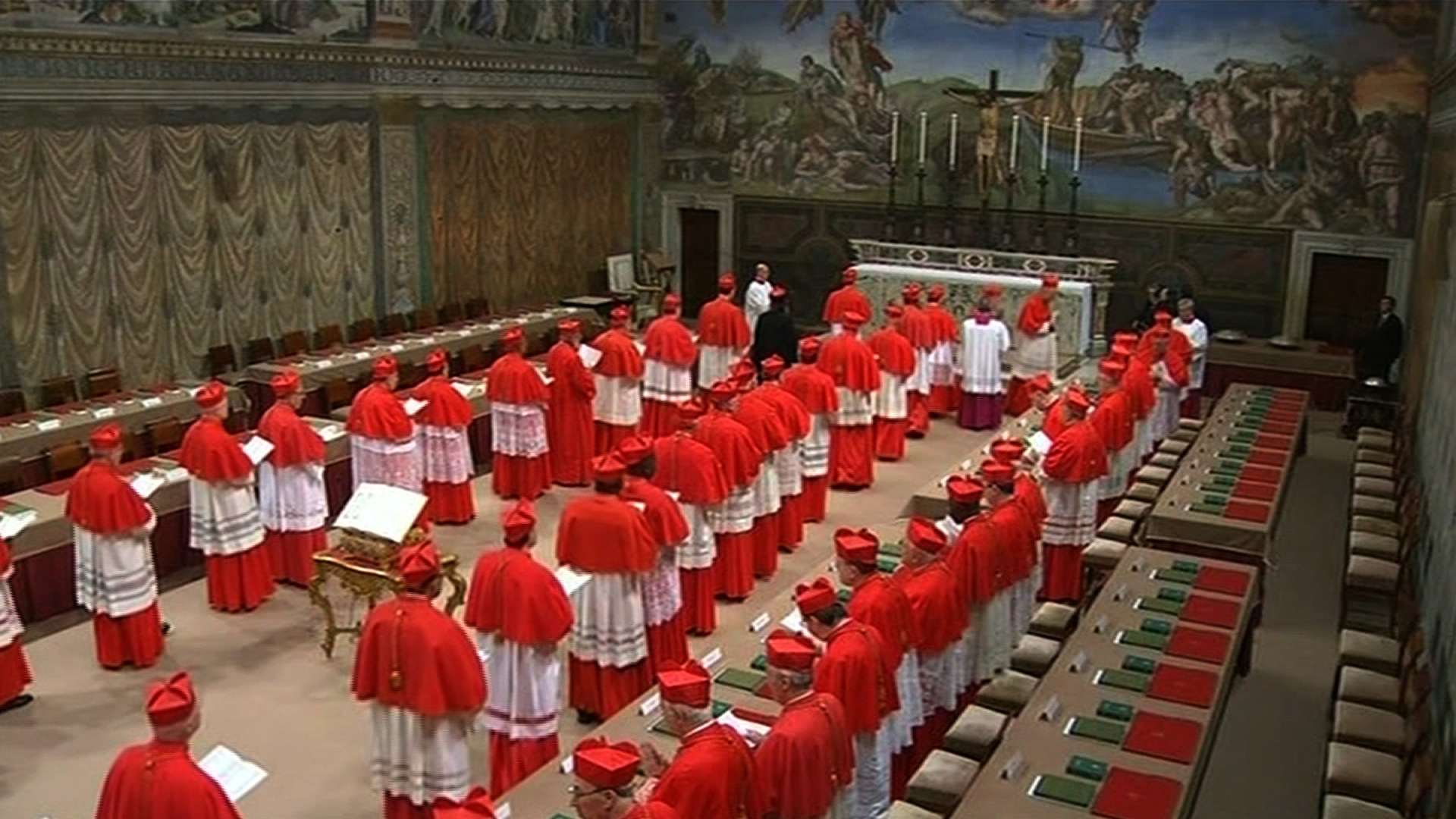To the Conclave!! No Pope After Day 2.  Come On Man!