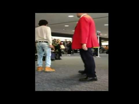 Guy Pees At Airport