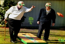 Bean Bag Toss Game Goes Back To Caveman Days