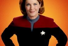 Star Trek Captain Janeway Wearing Prison Orange For Being Romulan Spy